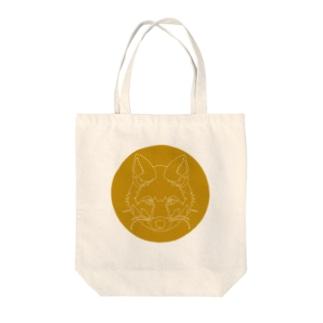 キツネ(破線) Tote bags