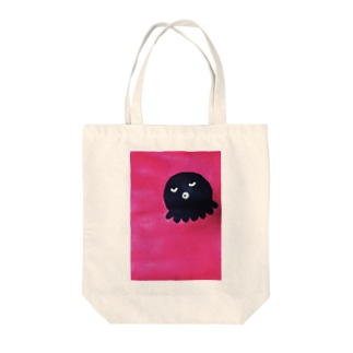 どっかで見たタコ Tote bags