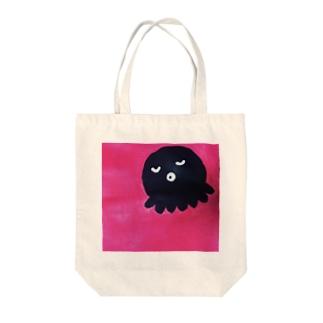 正方形のタコ Tote bags