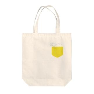 うまポケット Tote bags