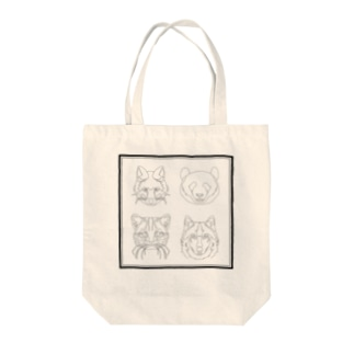 動物たち Tote bags