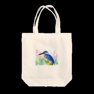リラのカワセミトートバッグ
