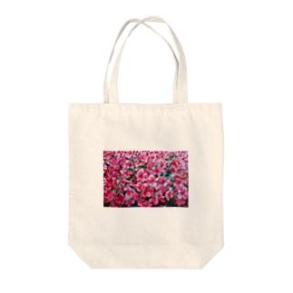 tsutsuji Tote bags