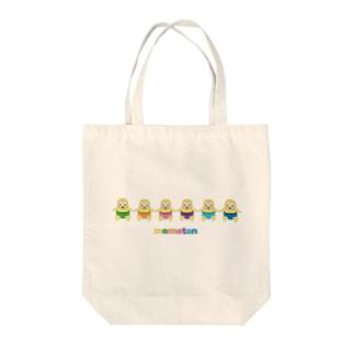 めめたん 相撲 Tote bags