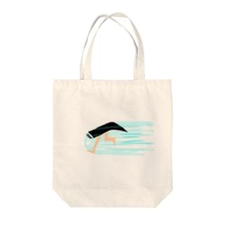 眉ダッシュ Tote bags