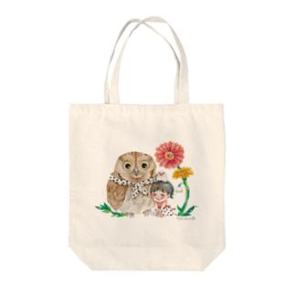 花が咲いた日 Tote bags