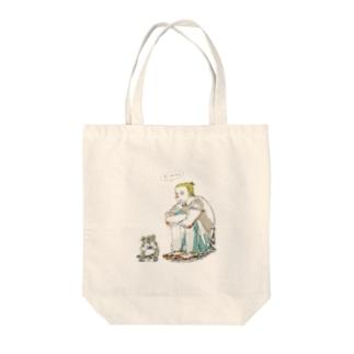 外国人と犬 Tote bags