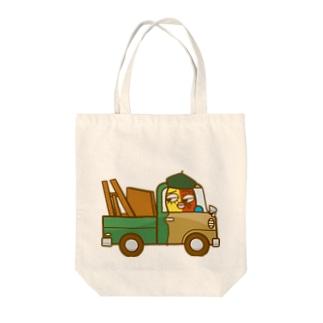 ピカリくんの小型トラック Tote bags
