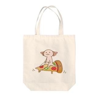 海外限定版アホロートルさん ロゴなしタイプ Tote bags