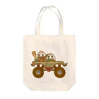 ガパオ族のモンスタートラック Tote bags