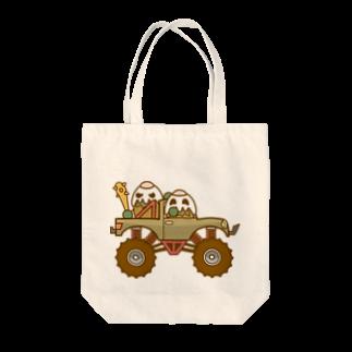 コメビツくんのガパオ族のモンスタートラック Tote bags