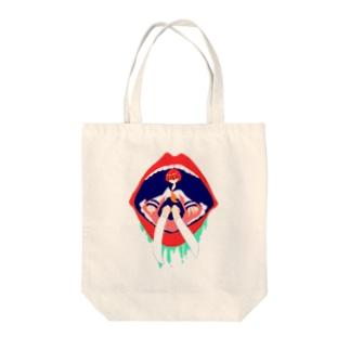 お口と女子高生 Tote bags