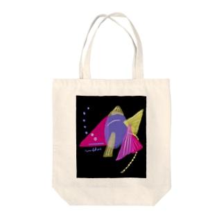 夜のゴールデンうんこ金魚 Tote bags