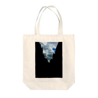 BULE SKY Tote bags