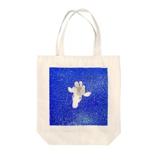 花飾りのキリン夜空グッズ トートバッグ