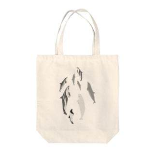 ドルフィンパラダイス Tote bags