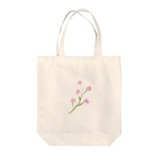 ピンクの小さいお花 Tote bags