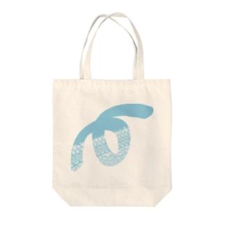 ゼンタングルLoop(スカイブルー) Tote bags
