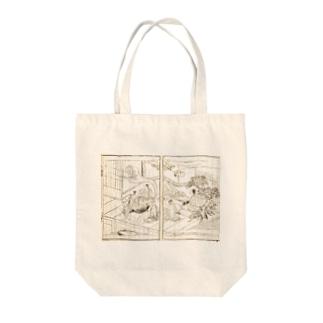 夢応の鯉魚(裏写り低減版)L Tote bags