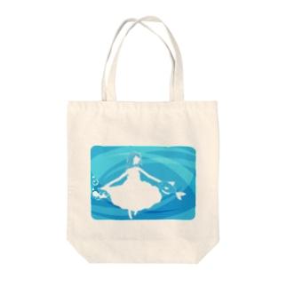 水中に舞う Tote bags