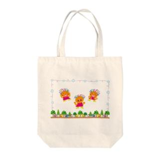 いつも笑顔のクレコちゃん Tote bags