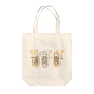 チューバとうさぎ Tote bags