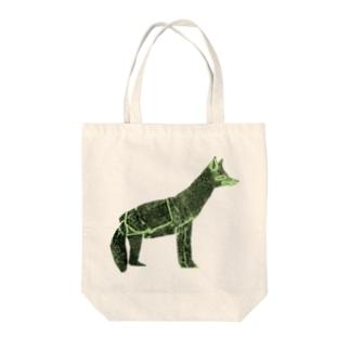 狐 Tote bags