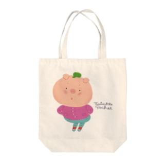 おしりふりふり*ぶた Tote bags