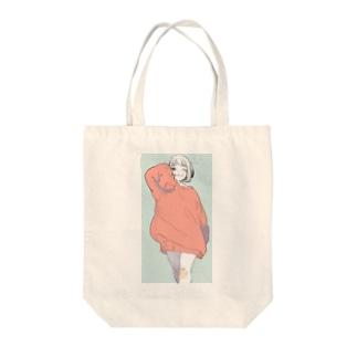 少女 Tote bags
