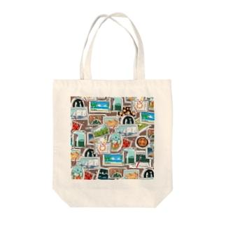旅する絵筆 Tote bags