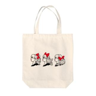 リボントリオ Tote bags