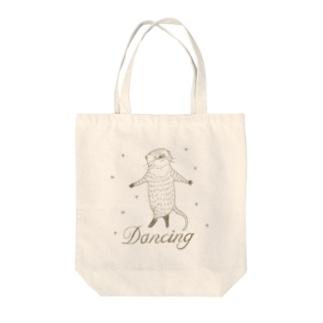kawauso dancing! Tote bags