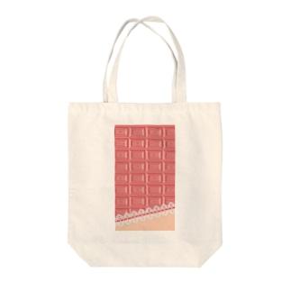 ピンクチョコレート2 Tote bags