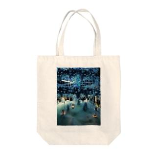 Ribbon-corsage*のブルークリスマス Tote bags
