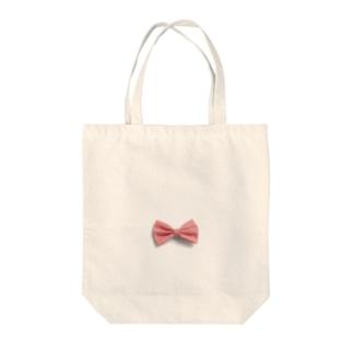 Ribbon-corsage*のピンクリボン Tote bags