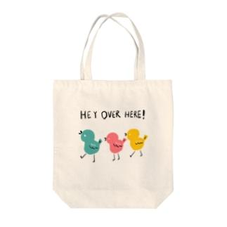 ぴよぴよマーチ Tote bags