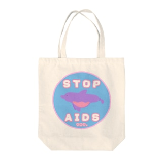 Condom Dolphin【STOP AIDS】 トートバッグ