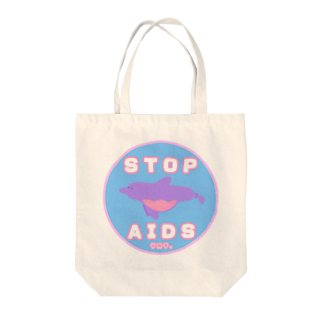 YMT.のCondom Dolphin【STOP AIDS】 Tote bags