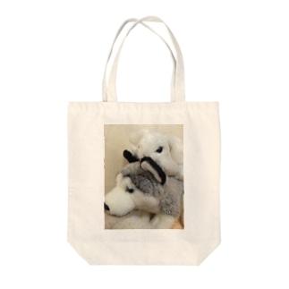 うさぎといぬ Tote bags