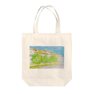 温かい住宅地 Tote bags