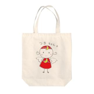 つきちゃん Tote bags