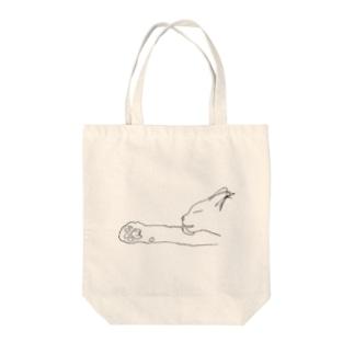 なめる白猫 Tote bags