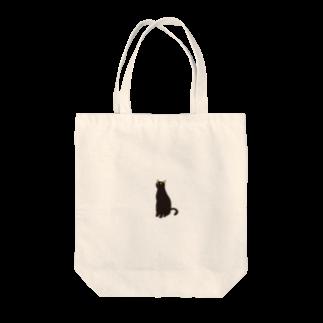 - さらさら -の黒にゃー Tote bags