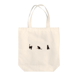 黒にゃー Tote bags