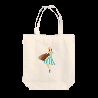 - さらさら -のsummer (ライトブルー) Tote bags