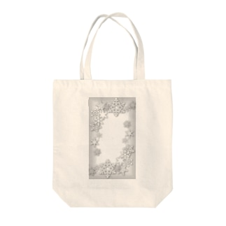 Snowflake Garden Tote bags