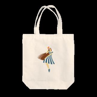 - さらさら -のsummer (ネイビーブルー) Tote bags