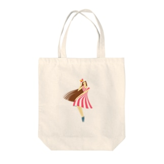 summer (ピンク) Tote bags