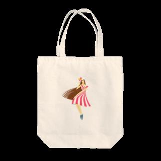 - さらさら -のsummer (ピンク) Tote bags