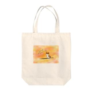 朝日のねこ Tote bags